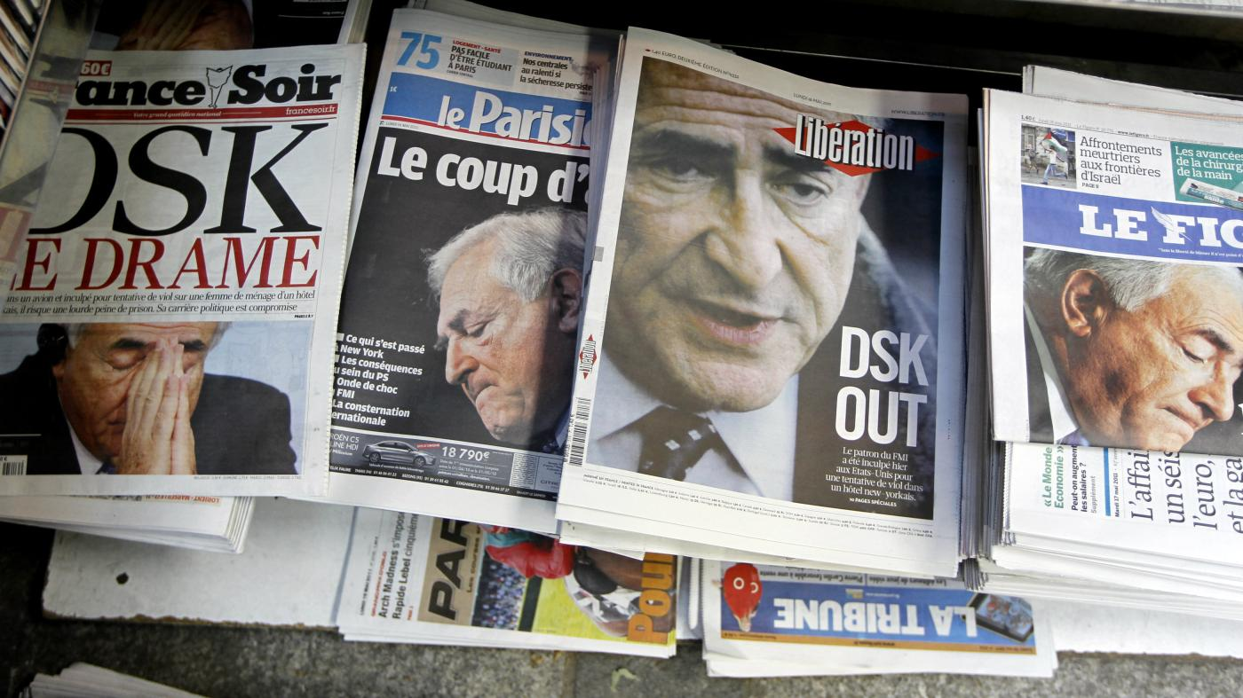 The newspapers in French